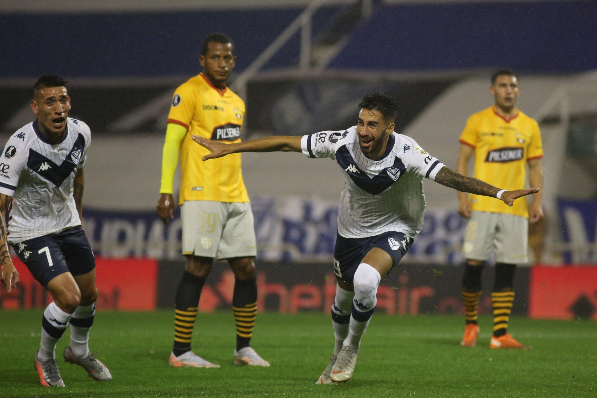 Copa Libertadores (1-0) Vélez venció a Barcelona por la mínima, la llave se  definirá en Guayaquil (Video-Gol)   Tera Deportes