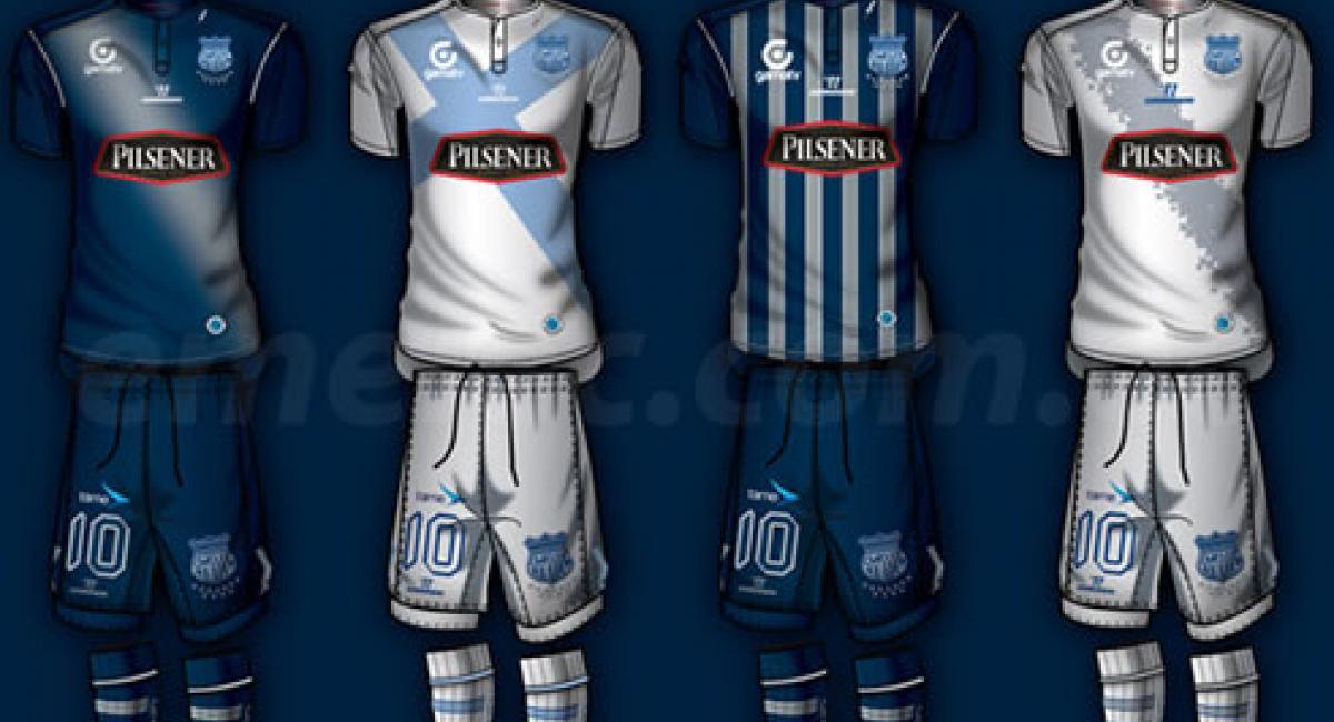0efcfb9a46b Mediante su portal oficial el campeón, Emelec, ha dado a conocer los  uniformes que usará en la temporada 2014. Para este año la indumentaria del  'Bombillo' ...