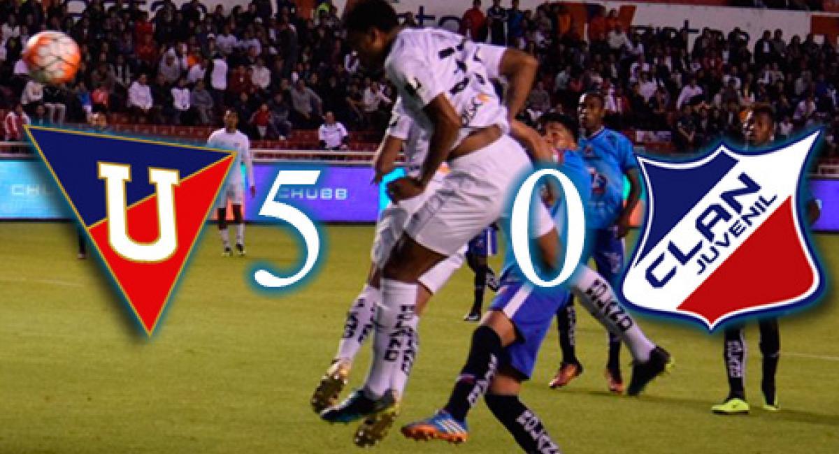5-0) Liga de Quito aplasta a la reserva de Clan Juvenil que se queda ...