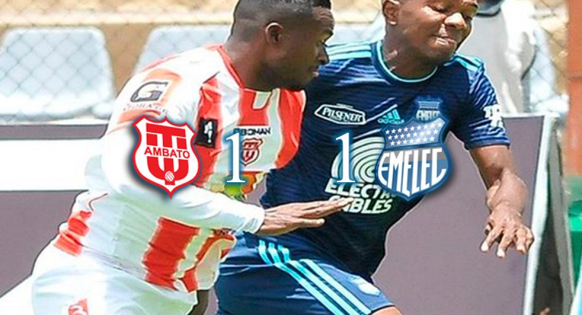 1 1 brayan angulo salv a emelec de una derrota ante for Exterior tecnico universitario 2018
